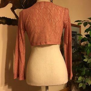 blossom Sweaters - Blossom rose Shrug Bolero NWOT S